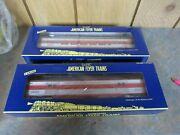 American Flyer Full Vista Dome Car 6-49956 And Texas Special Bagage Car 6-49957