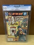 Action Comics 663 Cgc 8.5 Key Issue Comic Books Hard Sleeve Collectibles