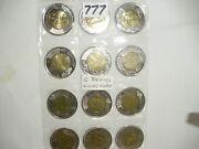 12 Coins Toonie Canada All Canadian Collection Commemorative 2 Bimetallic 777