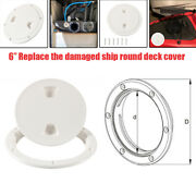 6in Marine Boat Inspection Hatch Rv Round White Deck Plate Access Abs Cover Kit