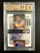 2004-05 Sp Game Used All-star Sigs Magic Johnson Auto 06/25 Bgs 9.5/10 Auto Hot