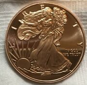 1 Oz Copper Round - 20 Pieces Walking Liberty Bright And Beautiful In Tube