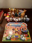 Fisher Price Little People Zoo Farm Animals Lot Of 22 Animals And Book