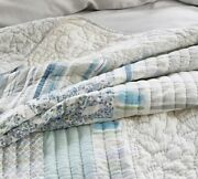 Pottery Barn Rebecca Atwood Garden Organic Patchwork F/q Full/queen Quilt