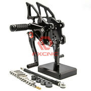 For Tr400 Black Cnc Motorcycle Front Rearset Footpegs Footrest Pedals Mount Pair