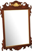 Councill Craftsman Chippendale Style Mahogany Mirror, Gold Gild Accents 48x 31
