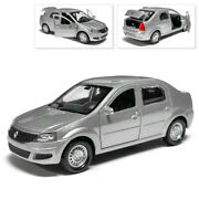 Renault Logan Metal Model Diecast Car Scale Collectible Toy Cars Silver 1/36