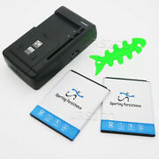 2x 5170mah Battery Universal Charger Winder For Samsung Galaxy S4 Mini R890 Usa