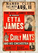 Home Decoration 1962 Etta James Show Mambo Club Concert Poster Metal Tin Sign