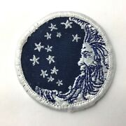 """Rare Proctor And Gamble Moon And Stars Embroidered Patch 2"""" Round - Old Logo"""