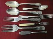 Silver Plate Forks And Spoons Antique Vintage 7 Piece Rogers Community Sheffield