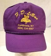 Vintage New Old Stock Lebus Burley Tobacco Warehouse Cynthiana, Ky Hat Cap