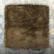 """Restoration Hardware Luxe Faux Fur Coyote Pillow Cover 22"""" Sq Brown Euc"""