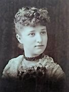 East Saginaw Michigan Vintage Cabinet Photo 1890s Pretty Young Woman
