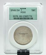 1935 Spanish Trail 50c Commemorative Graded By Pcgs As Ms-66 Old Holder