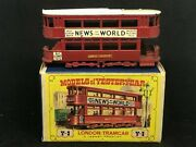 Htf Matchbox Yesteryear Y-3-1-16 London Tramcar W White Cow Catcher And D2 Box