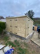Garden Shed Ultimate Heavy Duty Tanalised 12x10 Pent 22mm Tandg. 3x2