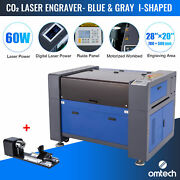 Omtech 60w 20 X 28 Inch Co2 Laser Engraver Engraving Machine With Rotary Axis B