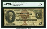 1880 10 Silver Certificate Handsome Note Pmg Pcgs 15 Fr 287 Only 99 Known