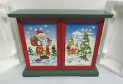 2004 Thomas Pacconi Classics Wooden Advent Calendar With 25 Christmas Ornaments