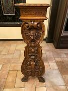 Great Italian Antique Walnut Carved Hall Stand - Dr4