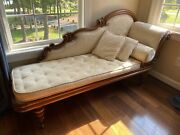 Antique Victorian Mahogany Chaise Lounge