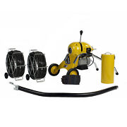 Steel Dragon Tools® K1500b Drain Cleaner Cleaning Machine 120' C11 Snake Cable