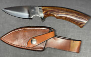 Vintage Track Knives By Ithacagun Hunting Skinning Knife - Paw -original Sheath
