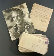 Vintage 1940s Wwii Hollywood Robert Stack Male Affection Letters Archive