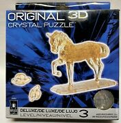 New Original Bepuzzed 3d Crystal Puzzle Clear Horse 98-pieces 30962