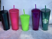 Starbucks Fall 2020 Tumblers 5 Tumblers 1 Neon Green And Neon Pink Studded Cup