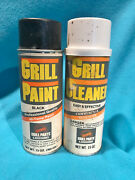 2 Vintage Grill Paint / Grill Cleaner Spray Tin Cans - Empty