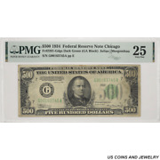 1934 500 Federal Reserve Note Chicago Pmg Vf25 Fr2201-gdgs Sn G00163745a