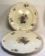 Antique French Faience Sarreguemines Platters 2 Rare 13andrdquo Cake And 12andrdquo+server