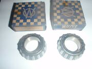 2 Nos Front Wheel Inner Cone And Roller Bearings 1952-1955 Willys Aero Cars Usa