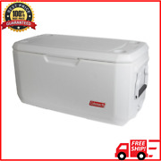 Large Coleman Cooler 120 Qt Quart Max Cold Ice Chest Insulated Marine Fishing