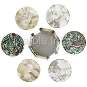 Modern Coaster Set 6 Assorted Coaster Tile Handmade Mother Of Pearl Ablone Shell
