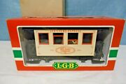 Lgb 1982 Jahreswagen Lighted Jubilaums Express Passenger Car W/ People, G Scale