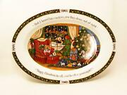 Christmas Story By International 16 Oval Serving Platter Susan Winget Christmas
