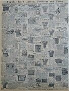 1911 Antique Card Games Toys Sears Catalog Page Vintage Print Ad