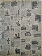 1911 Antique Musical Toys Instruments Dolls Sears Catalog Page Vintage Print Ad