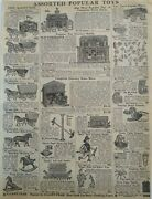 1911 Antique Toys Horse Wagon Grocery Store Sears Catalog Page Vintage Print Ad