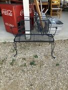 Vintage Older Wrought Iron Patio Bench