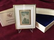 Hanford Heirlooms Framed Iwo Jima Soldiers Stamp W/ Stand And Box