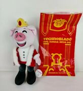 Youtooz Technoblade 12 Plush Pig Stuffed Toy Red Fluffy Coat New In Bag