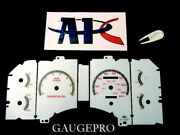 90-93 Ford Mustang Lx / Gt 140 Mph - White Face Glow Gauges Panel With Red Trim