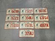 Georgia License Plate Lot Of Ten Plates 10 - Expired Vintage Embossed Olympics