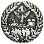 2020 2oz Silver Antiqued Coin - End Of Wwi 75th Anniversary