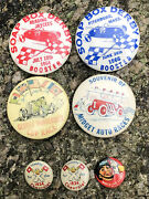 Lot Of 7 Early Original Soap Box Derby Race Cars Chevrolet Auto Celluloid Pins