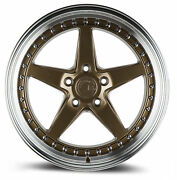 4-new 18 Aodhan Ds05 Ds5 Wheels 18x10.5 5x114.3 15 Bronze Rims 73